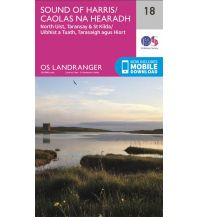 Wanderkarten Schottland OS Landranger Map 18, Sound of Harris 1:50.000 Ordnance Survey