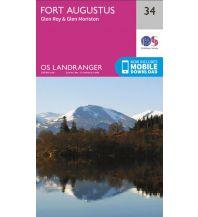 Wanderkarten Schottland OS Landranger Map 34, Fort Augustus, Glen Albyn & Glen Roy 1:50.000 Ordnance Survey