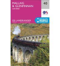 Wanderkarten Schottland OS Landranger Map 40, Mallaig & Glenfinnan 1:50.000 Ordnance Survey