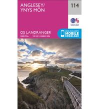 Wanderkarten Wales OS Landranger Map 114, Anglesey/Ynys Môn 1:50.000 Ordnance Survey