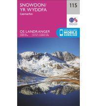 Wanderkarten Wales OS Landranger Map 115, Snowdon/Yr Wyddfa 1:50.000 Ordnance Survey