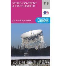 Wanderkarten Britische Inseln OS Landranger Map 118 Großbritannien - Stoke-on-Trent & Macclesfield 1:50.000 Ordnance Survey