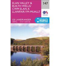 Wanderkarten Britische Inseln OS Landranger Map 147 Großbritannien - Elan Valley & Builth Wells 1:50.000 Ordnance Survey