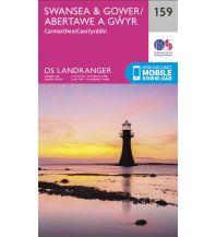 Wanderkarten Wales OS Landranger Map 159, Swansea & Gower 1:50.000 Ordnance Survey