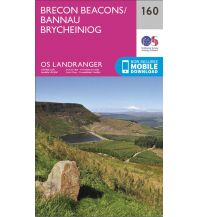 Wanderkarten OS Landranger Map 160 Großbritannien - Brecon Beacons / Bannau Brycheiniog 1:50.000 Ordnance Survey