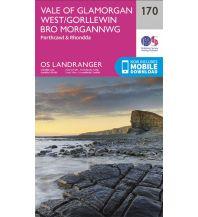 Wanderkarten OS Landranger Map 170 Großbritannien - Vale of Glamorgan West 1:50.000 Ordnance Survey