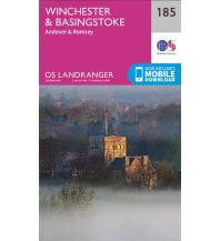 Wanderkarten Britische Inseln OS Landranger Map 185 Großbritannien - Winchester & Basingstoke 1:50.000 Ordnance Survey