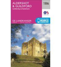 Wanderkarten Britische Inseln OS Landranger Map 186 Großbritannien - Aldershot & Guildford 1:50.000 Ordnance Survey