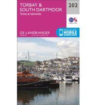Wanderkarten England OS Landranger Map 202, Torbay & South Dartmoor 1:50.000 Ordnance Survey