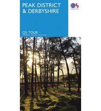 Straßenkarten OS Tour Map 4 - Peak District & Derbyshire 1:100.000 Ordnance Survey