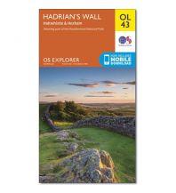 Wanderkarten Britische Inseln OS Leisure Explorer Map 43 Großbritanien - Hadrians Wall 1:25.000 Ordnance Survey