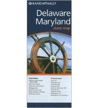 Straßenkarten Rand McNally State Map - Delaware & Maryland Rand McNally