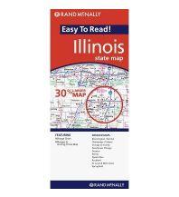 Straßenkarten Rand McNally Easy to Read - Illinois State Map Rand McNally