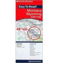 Straßenkarten Rand McNally State Map - Montana Wyoming Rand McNally