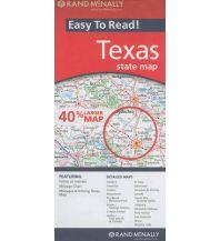 Straßenkarten Rand McNally Easy-To-Read State Map - Texas Rand McNally