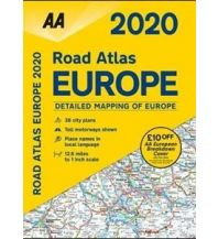 Reise- und Straßenatlanten AA Road Atlas 2020 - Europe 1:800.000 AA Publishing