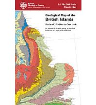 Geologie und Mineralogie British Geological Survey - Geological Map of the British Islands - folded Cordee Publishing