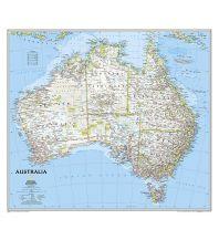Australien - Ozeanien National Geographic Wandkarte Australien laminiert 1:6.413.000 National Geographic Society Maps