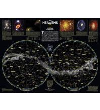 Astronomie National Geographic Wall Map Tube - The Heavens National Geographic Society Maps