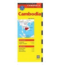 Straßenkarten Periplus Map - Cambodia  1:1.000.000 inkl. City Map Phnom Penh 1:17.500 Periplus