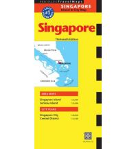 Stadtpläne Periplus Travel Map - Singapore 1:55.000  City 1:20.000 Periplus