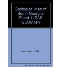 Straßenkarten British Antarctic Survey, Geomap 1 - Geological Map of South Georgia, Sheet 1 British Antarctic Survey