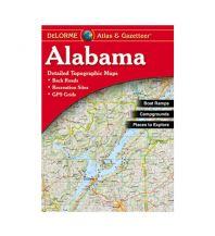Reise- und Straßenatlanten DeLorme Atlas Gazetteer - Alabama DeLorme Mapping Inc.