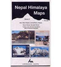 Wanderkarten Himalaya Leomann Himalaya Map 2 Nepal - Mid-West Nepal: Jumla/Rara, Saipal, Sisne Himal 1:200.000 Leomann Maps Ltd.