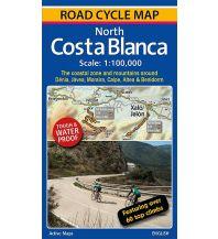 Radkarten Pioneer Partners Road Cycle Map Spanien - North Costa Blanca 1:100.000 Cordee Publishing