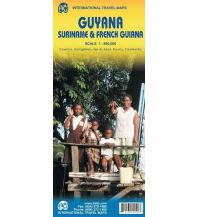 Straßenkarten ITMB Travel Map - Guyana,Suriname,French Guiana 1:850.000 ITMB International Travel Maps