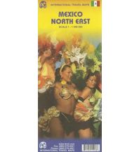 Straßenkarten Mexico North East. México Noreste ITMB International Travel Maps