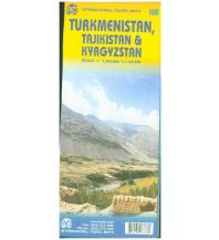 Straßenkarten Asien International Travel Map ITM Turkmenistan,Tajikistan, Kyrgyzstan ITMB International Travel Maps