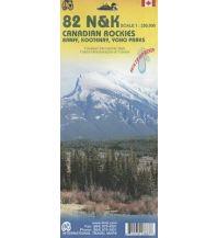 Wanderkarten Nord- und Mittelamerika Canadian Rockies. Les Rocheuses canadiennes ITMB International Travel Maps