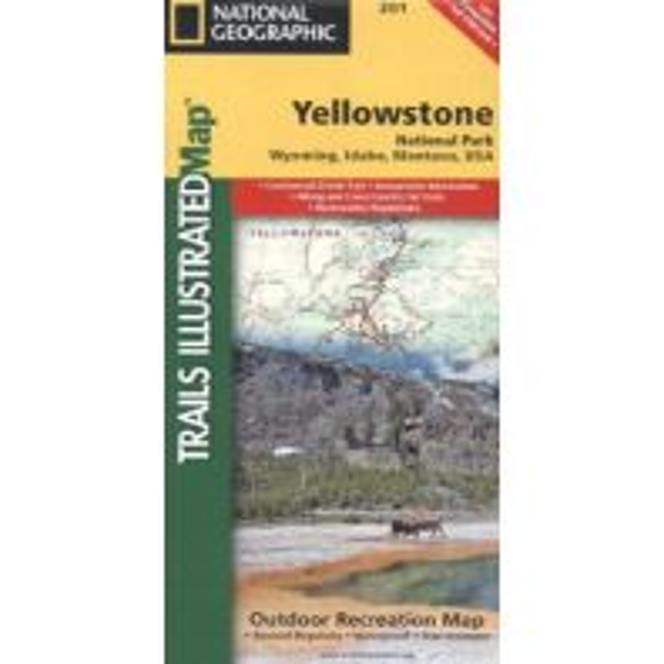 Straßenkarten Nord- und Mittelamerika Trails Illustrated Wanderkarte 201, Yellowstone National Park 1:126.720 Trails Illustrated