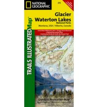 Wanderkarten Nord- und Mittelamerika Glacier National Park Trails Illustrated