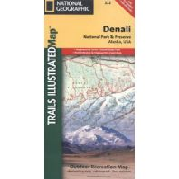 Wanderkarten Nord- und Mittelamerika Trails Illustrated Wanderkarte 222, Denali National Park 1:225.000 Trails Illustrated