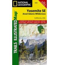 Wanderkarten Nord- und Mittelamerika 309 National Geographic Map - Yosemite SE Trails Illustrated