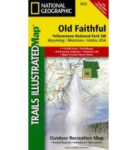 Wanderkarten Nord- und Mittelamerika Trails Illustrated Map 302, Yellowstone Lake 1:70.000 Trails Illustrated