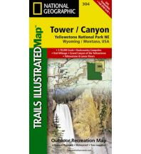 Wanderkarten Nord- und Mittelamerika 304 National Geographic Map - Tower, Canyon - Yellowstone National Park Nordost Trails Illustrated