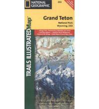 Straßenkarten Nord- und Mittelamerika Trails Illustrated Wanderkarte 202, Grand Teton National Park 1:80.000 Trails Illustrated