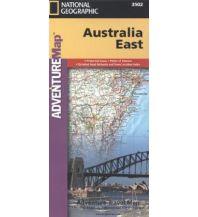 Straßenkarten Australien - Ozeanien Australia East National Geographic Society Maps