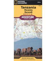 Straßenkarten Tanzania, Rwanda, Burundi National Geographic Society Maps