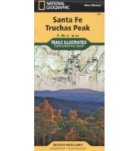 Wanderkarten Nord- und Mittelamerika Sante Fe, Truchas Trails Illustrated