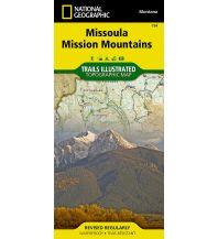 Wanderkarten Nord- und Mittelamerika National Geographic Map 724 USA - Missoula, Mission Mountains 1:70.000 Trails Illustrated