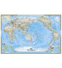 Poster und Wandkarten National Geographic Wandkarte Welt Pazifik zentriert laminiert 1:22.445.000 National Geographic Society Maps