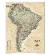 Poster und Wandkarten National Geographic Wandkarte Südamerika laminiert 1:11.121.000 National Geographic Society Maps