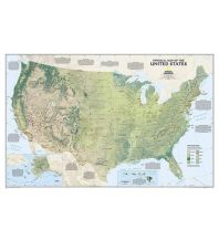 Poster und Wandkarten National Geographic Wall Map - USA physical laminated National Geographic Society Maps