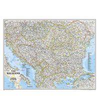 Poster und Wandkarten National Geographic Wandkarte Balkan laminiert 1:1.948.000 National Geographic Society Maps