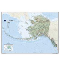 Amerika National Geographic Wandkarte Alaska laminiert National Geographic Society Maps