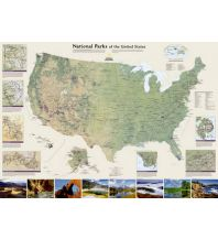 Poster und Wandkarten USA National Parks laminated National Geographic Society Maps